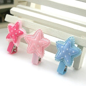 Cici Girl 3pc Cute Little Stars, Mixed Colour Hair Clips Pins Set