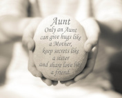 Aunt Quote Print, 20cm x 25cm mounted