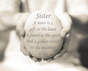Sister Quote Print, 20cm x 25cm mounted