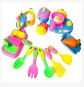 Simulation of children play house kitchen utensils and appliances, kitchen utensils and fruits and vegetables