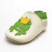 Sayoyo Baby Prince Frog Soft Sole Leather Infant Toddler Prewalker Shoes