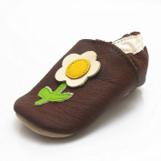 Sayoyo Baby Flower Soft Sole Leather Infant Toddler Prewalker Shoes