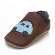 Sayoyo Baby Car Soft Sole Leather Infant Toddler Prewalker Shoes