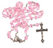 Rosary. Pink rosary