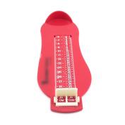 Baby Children Kid Feet Lenght Growing Measureing Ruler Subscript Foot Tool Gear Red