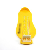 Baby Children Kid Feet Lenght Growing Measureing Ruler Subscript Foot Tool Gear Yellow
