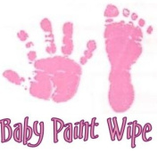 Baby Hand Print Footprint Paint Wipe Kit Pink