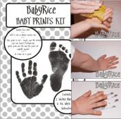 BabyRice Baby Hand and Footprint Inkless Wipe Prints Kit
