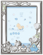 Silver Touch USA Sterling Silver Boy Celebration Picture Frame with Booklet, Blue, 13cm x 18cm