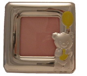 Silver Touch USA Sterling Silver Bear Picture Frame, Pink