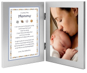 "Gift for New Mom - Mommy Gift From Son ""Baby Boy"" - Sports Themed Double Frame - Add Photo"