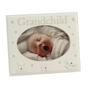 Beautifully Designed Grandchild Cream Resin Baby Photo Frame By Haysom Interiors