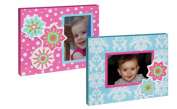 Pink and Blue Flower Wood 4X6 Picture Frame Set of 2