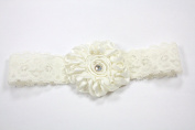 Beautiful Stretch Lace Headband with Satin Flower