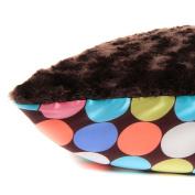 Allyzabba Large Pillowcase Choco-Dot Chocolate (approx 20″ x 29″).