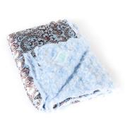 Allyzabba Aloha Blue Small Baby Blanket 41cm x 36cm