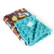 Allyzabba Dino Aqua Small Baby Blanket 41cm x 36cm