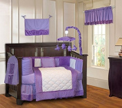 Minky Purple 10 Piece Girls Baby Crib Bedding Set