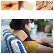 Glovion Cute Nature Wooden Style Pillow Head Cushion