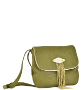 BIG BUDDHA JSpencer Flap with Chain Tassel Crossbody Shoulder Bag, Olive, One Size