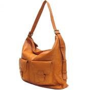 Large Floto Capri Bag in Saddle Brown Italian Nappa Leather