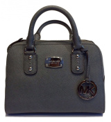 Michael Kors Small Satchel Heather Grey Saffiano Leather