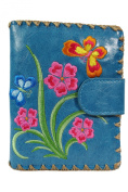 Lavishy Butterfly Heaven Embroidered Flower Faux Leather Medium Wallet