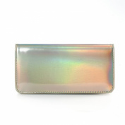 Zarapack Women's Hologram Zipper Around Pu Leather Wallet Clutch Purse