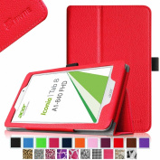 Fintie Acer Iconia Tab 8 A1-840 FHD 20cm Android Tablet Folio Case - Premium Leather Cover Stand With Stylus Holder - Red