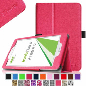 Fintie Acer Iconia Tab 8 A1-840 FHD 20cm Android Tablet Folio Case - Premium Leather Cover Stand With Stylus Holder - Magenta