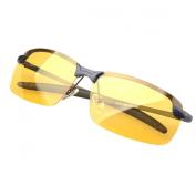 Aubig Men Polarised Light Night-vision Glasses Driving Mirror with Case + Bag