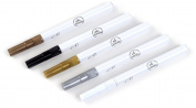 EK Tools 5-Pack Paint Pens, Metallic Fine Tip