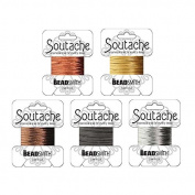 Shiny Metallic Soutache Rayon Cord Mix for Bead Embroidery and Soutache Jewellery Making