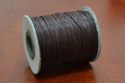100 Metre Brown Waxed Cotton Beading Cord String Roll 1mm