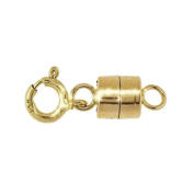 Magnetic Clasp 14k 4.4mm Gold Converter for Necklaces Closed Loops Strong Solid 14kt Tiny
