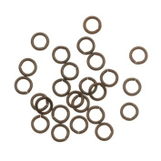 Vintaj Natural Brass Jump Rings 4mm Open 21 Gauge