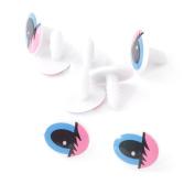 100x Plastic Pink Blue Cartoon Cute Animal Doll Oval Eyes TOY Find DIY 20 Mm NEW