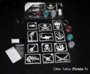 Glitter Tattoo Pirate Kit Add on for Face Paint or Henna
