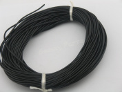 25 Yards 2.0mm Black Colour Soft Round Real Jewellery Leather Cord