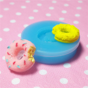 Kawaii Cute Round Bited Sweet Chocolate Cream Doughnut Fondant Silicone Mould for Cake Cookie Phone CellPhone Decorating Chocolate Soap Epoxy Clay Fimo Clay 015LBT