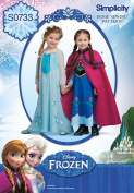 Simplicity Creative Patterns S0733 Disney's Frozen Pattern Costume for Children, A