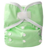 Kawaii Baby One Size Happy Leak-free hook and loop Cloth Nappy Cover for Prefolds Lime