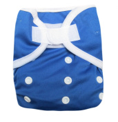 Kawaii Baby One Size Happy Leak-free hook and loop Cloth Nappy Cover for Prefolds Blue