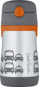 DwellStudio for Thermos, Vacuum Insulated Stainless Steel Straw Bottle, Transportation, 300ml