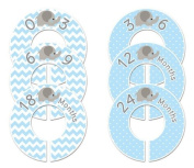 Blue Elephant #40 Baby Closet Dividers Boy Clothes Organisers Set of 6