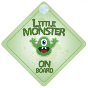 Little Monster On Board Car Sign New Baby / Child Gift / Present / Baby Shower Surprise