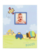 """zoom zoom"" Baby's First Record Memory Book Keepsake First 5 Years car plane boy Baby Book"