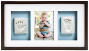 Pearhead Babyprints Deluxe Wall Frame, Espresso