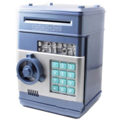 Vandesail New Style Money Saving Box Cash Coin Can Safe ATM Bank Novelty Tin Birthday Gift Blue