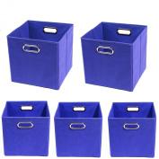 Modern Littles Organisation Bundle-5 Storage Bins, Bold Blue
